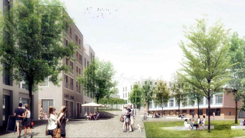Wesentliche Teile des Gebäudebestands auf dem Gelände des ehemaligen Bürgerhospitals in Stuttgart sollen energetisch saniert und zu bezahlbarem Wohnraum umgebaut werden.