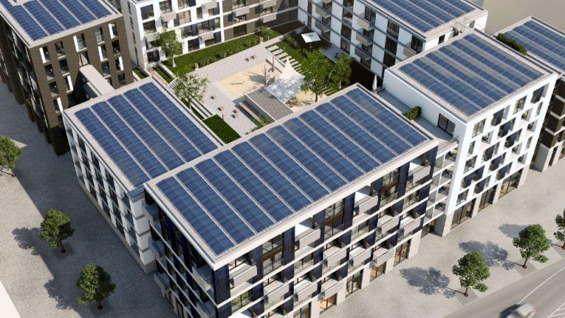 Bèla ist der erste von sechs Wohn-/ Gewerbeblöcken in der neuen Weststadt Esslingen.  Die drei Gebäude verfügen über 132 Wohneinheiten.