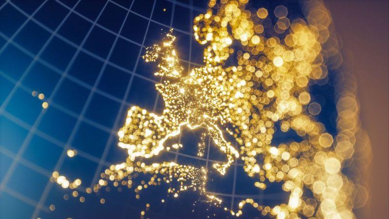 Weltkarte aus Lichtern