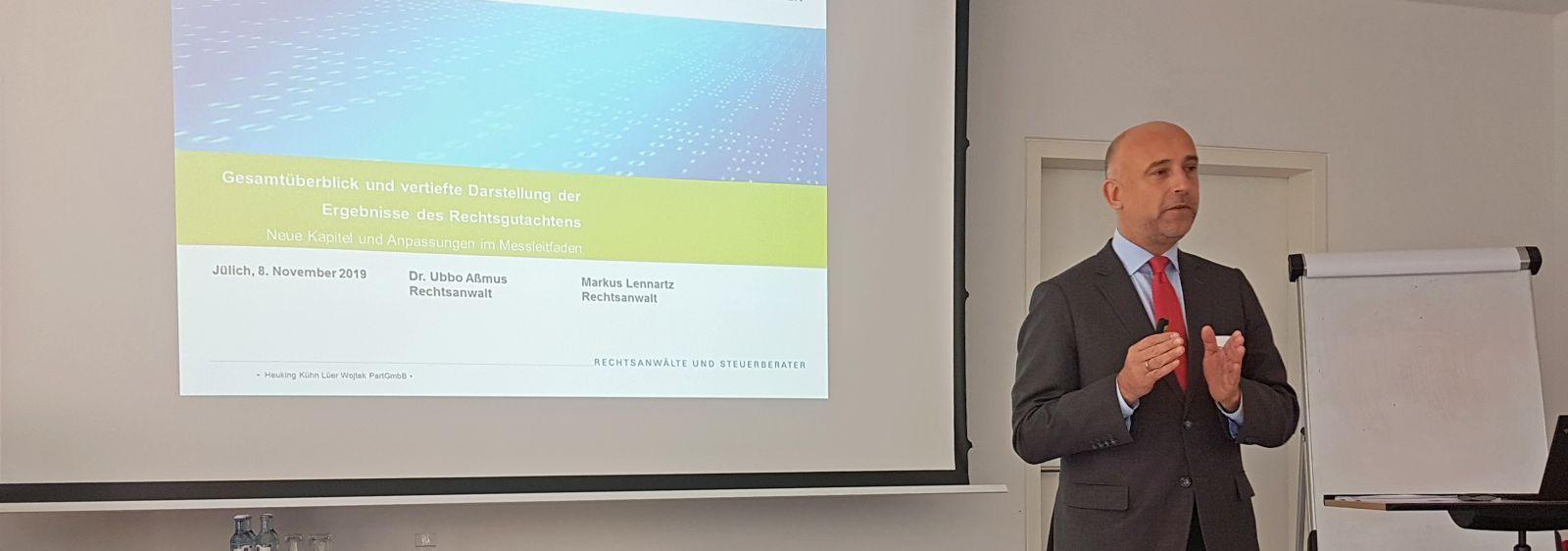 Rechtsanwalt Markus Lennartz erklärte in seinem Vortrag, dass Datenschutz den wissenschaftlichen Erkenntnisgewinn grundsätzlich nicht einschränken darf.