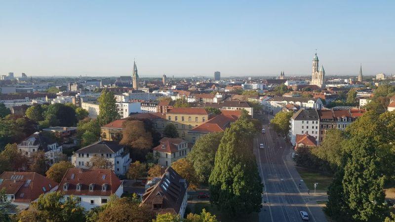 Sicht auf ein Stadtquartier