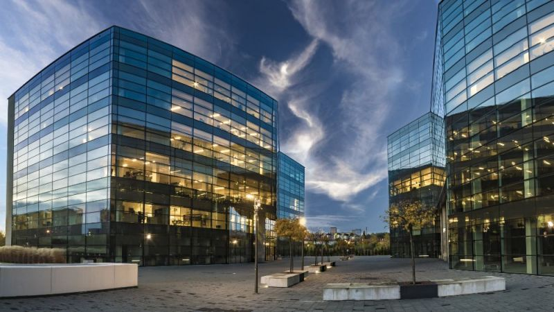 Ein Beispiel für ein innovatives Bürogebäude.