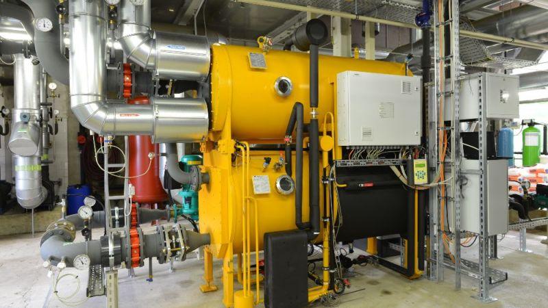 In der modernisierten Kältezentrale im Hannover Congress Centrum (HCC) unterstützt eine Absorptionskälteanlage die Grundlastversorgung.
