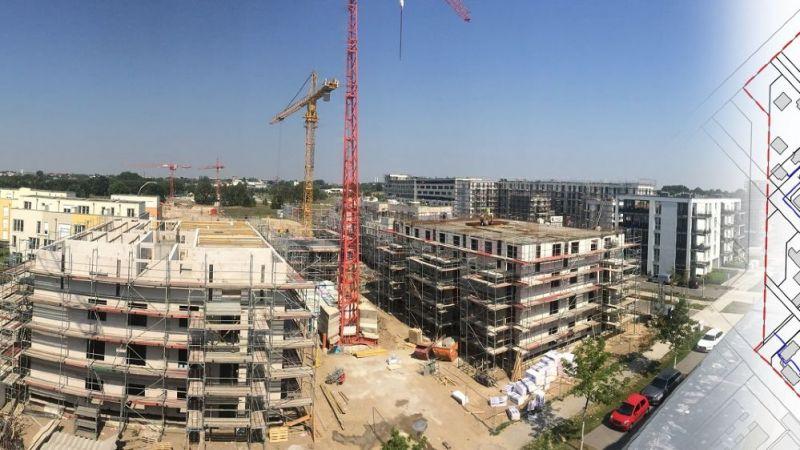 Blick auf das Neubau-Quartier Wohnen am Campus Adlershof