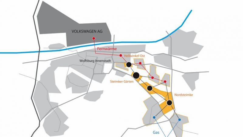 Vernetzte Quartiere im Südosten der Stadt Wolfsburg