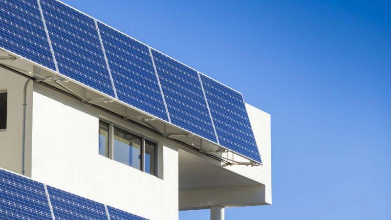 Ein Beispiel für die solargestützte Energieversorgung von Gebäuden.