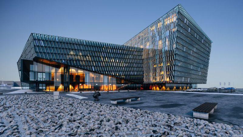 Ein Beispiel für ein modernes Bürogebäude.