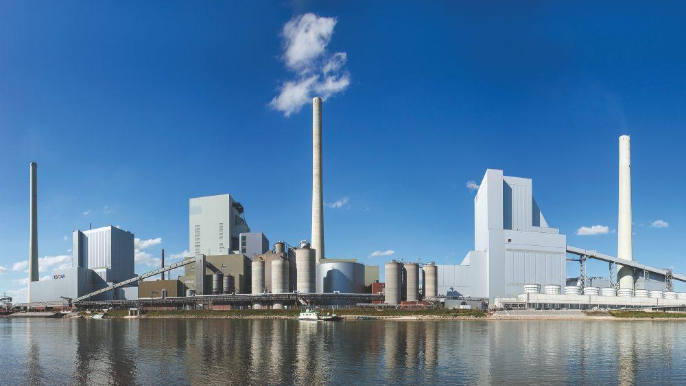 Das am Rhein gelegene Kraftwerk zeichnet sich durch sehr leistungsfähige Wasserentnahme- und Rücklaufeinrichtungen aus. Diese eignen sich optimal als Wärmequelle für eine Großwärmepumpe.