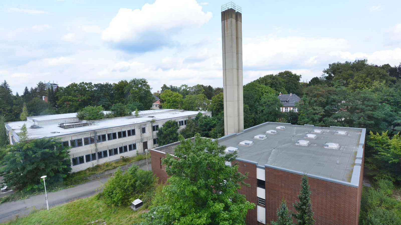 Das ehemalige Heizhaus soll neben dem Militärkrankenhaus ein zentrales Gebäude des zukünftigen FUBIC werden.