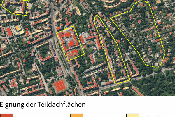Solare Potenziale im Referenzgebiet in Berlin-Pankow