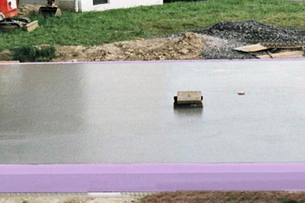 Bodenspeicherplatte nach Fertigstellung