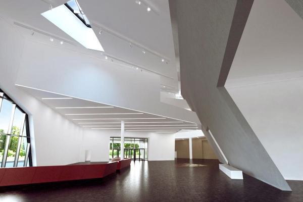 Das neue Zentralgebäude der Leuphana Universität wurde vom Architekten Daniel Libeskind entworfen. Das Gebäude in einer Visualisierung.